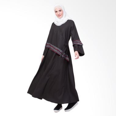 Allev Wardah Dress Muslim Wanita - Hitam