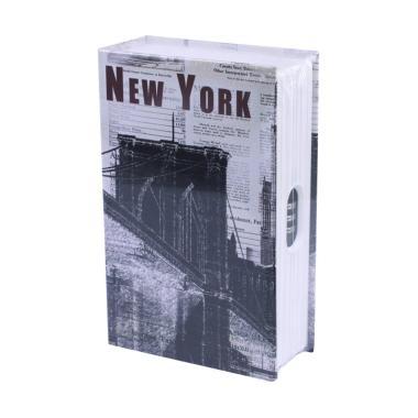 Krisbow Buku Motif Kota New York Brankas [180 x 115 x 54 mm]