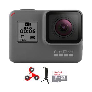 GoPro Hero 6 Combo 3 Way Supreme 32 GB Spin Action Camera - Black