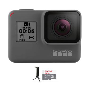 GoPro Hero 6 Combo 3 Way Supreme 32 GB Action Camera - Black