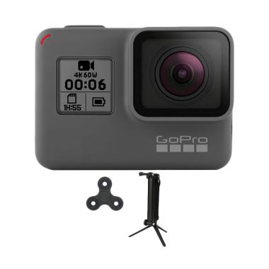 GoPro Hero 6 3 Way Monopod Spin Action Camera - Black