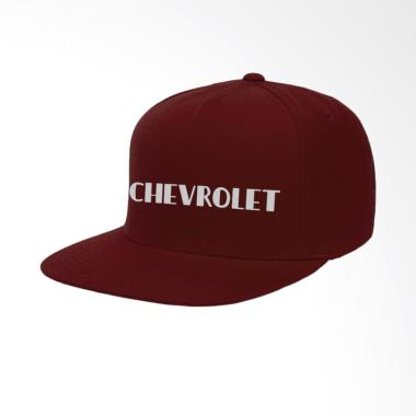 IndoClothing Chevrolet Topi Snapback Pria - Maroon