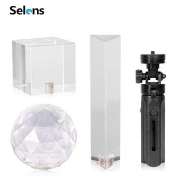 harga Selens Photography Props Prism Crystal Ball With Tripod Blibli.com