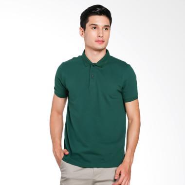 Giordano Solid Polo Shirt Pria - Green [0101725306]