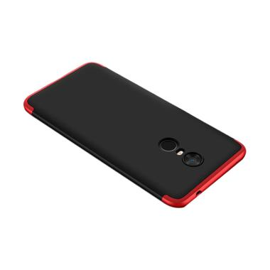 outlet store 16c1a f7eb4 Redmi 5 Plus Armor Full Cover Baby Skin Matte Hard Case - Hitam Merah