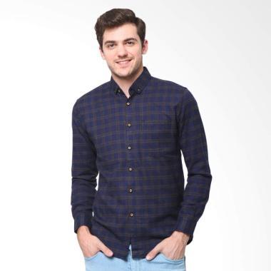 MENTLI Redford Flannel Shirt Kemeja Flanel Pria