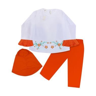 MacBear Fatimah Setelan Hijab Baju Anak - Orange