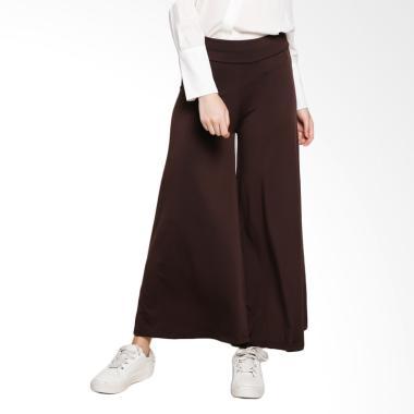 Ayda Celana Kulot Jumbo Wanita - Dark Brown