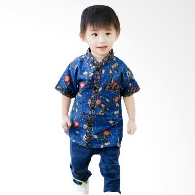 Welans Batik Motif LP010 COWO Kaftan Kemeja Anak Laki-laki