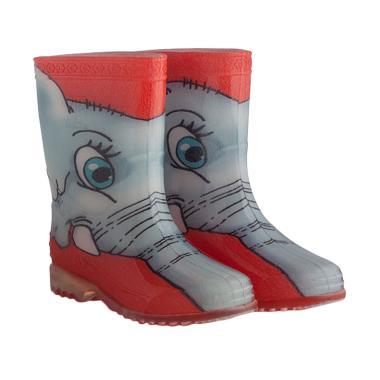 AP BOOTS Safary Elephant Sepatu Boots Anak Unisex - Abu-Abu