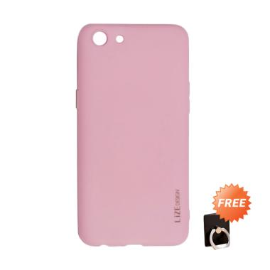 best website 46943 58918 Lize Slim Case Oppo A83 Softcase Oppo A83 Casing Oppo A83 - Pink + Free 1  Pcs Holder Ring Stand HP Random