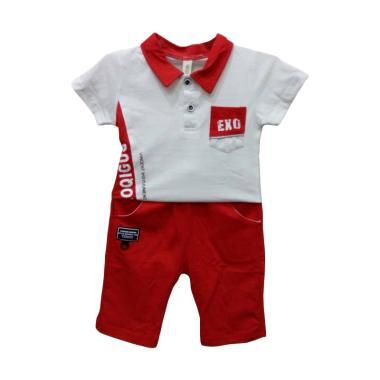 Import Kids 86235 Setelan Baju Bayi Laki-laki - Red