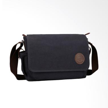 Muzee ME-8899D Messenger Bag Kanvas Tas Selempang - Black