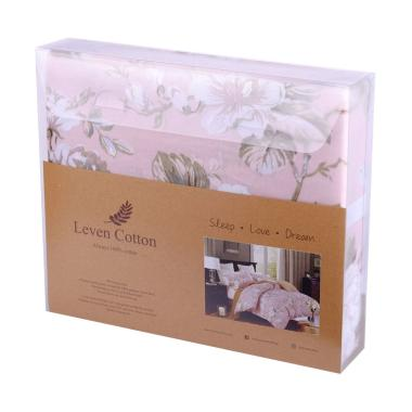 Leven Cotton New Blush Carnation Katun Jepang Fitted Sheet Set Sprei