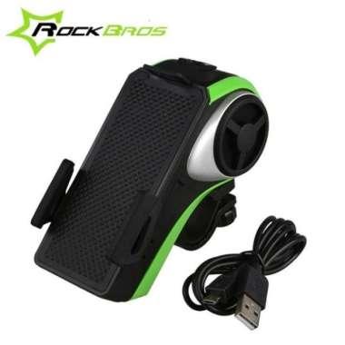 harga ROCKBROS Bicycle Phone Holder Bike Light Bluetooth Audio Powerbank Multicolor Blibli.com