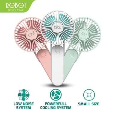 harga ROBOT RT-BF11 Foldable USB Mini Fan & Powerbank 2000mAh - Hijau Blibli.com