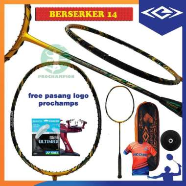 harga PAKET GONGKE BERSERKER 14-15-16-17 RAKET BADMINTON ORIGINAL - BERSERKER 14 Multicolor - Blibli.com