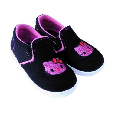 harga HQo Slip On Hello Kitty Sepatu Anak Perempuan - Black Pink Blibli.com
