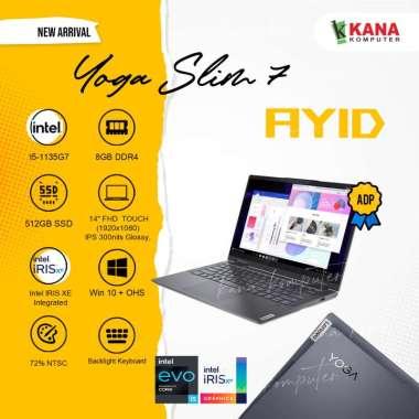 harga Lenovo Yoga Slim 7i 14ITL05 82A300AYID Notebook - Grey ( i5-1135G7 / 8GB / 512GB SSD / Intel Iris XE / 14″FHD / Win10 / OHS ) -- Blibli.com