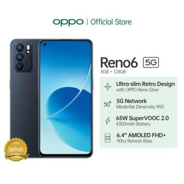 Oppo Reno 6 5G Ram 8 Rom 128GB hitam