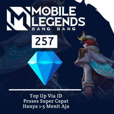 Diamonds Mobile Legends Top Up Diamond ML - 257 DM