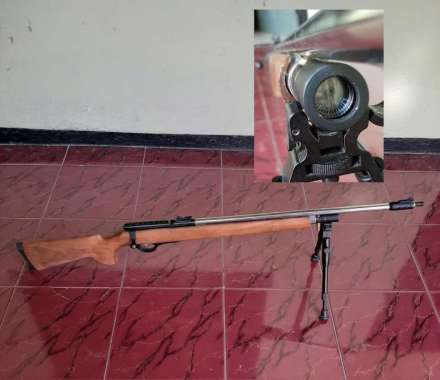 senapan angin pcp ruger sengin senapang gas luger 5000 psi power besar big game terbaik tabung tanem murah