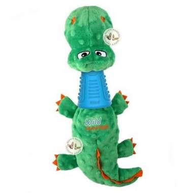 harga GiGwi Crocodile Plush Squeaky Treat Dispenser- Mainan Anjing Multicolor Blibli.com