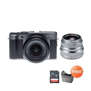 Fujifilm X-A5 Kit 15-45mm Kamera Mi ...  Sling Bag + Leather Case