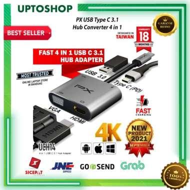 harga Type C 3.1 to HDMI VGA USB Hub Converter Adaptor 4 in 1 4K PX UCH14 Blibli.com