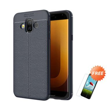 buy online d4382 70b4a OEM Focus Softcase Casing for Samsung Galaxy J7 Duo 2018 J720 - Black +  Free Tempered Glass