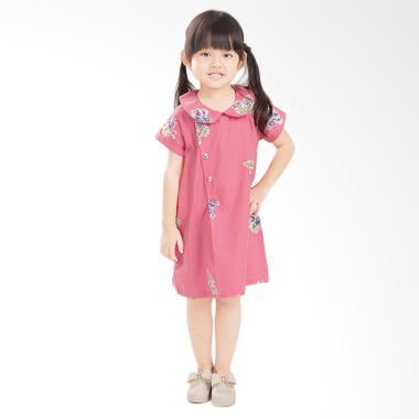 Madha Kupu Dress Anak Perempuan Fuschia Pink