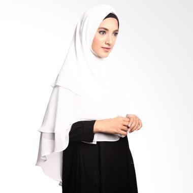 Cotton Bee Khimar Khirani 3 Layer Jilbab Instan - Off White