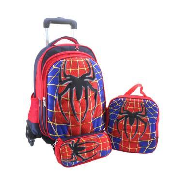 DJ Fashion 0642 Superman Tas Troli Ransel 3D 3 in 1 Tas Sekolah Anak