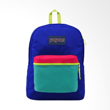 Jansport LBJEX3C4X4C1 Backpack Tas  ... ed Regal Blue Neon Yellow