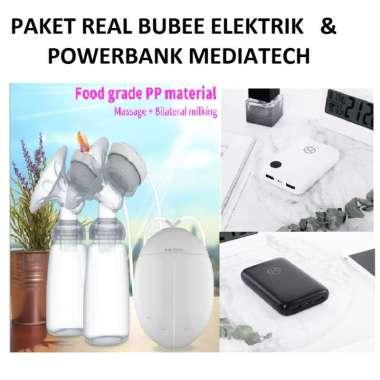harga PAKET Pompa ASI Real Bubee Double ELEKTRIK & Powerbank Mini Box PW 501 - G201 Pompa - PW 501 Putih Blibli.com