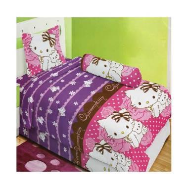 Lady Rose Charmy Kitty Set Sprei - Purple [120 x 200 cm]