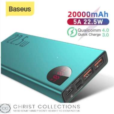 Dijual BASEUS POWERBANK ADAMAN FAST CHARGING QUICK CHARGE 4.0 3.0 TYPE C PD - BLACK-10000MAH Diskon