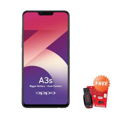 harga OPPO A3S Smartphone [32 GB/ 3 GB] + Free Flashdisk Sandisk 16 GB Blibli.com