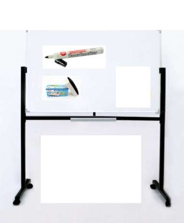 harga Whiteboard Standing Magnetic 90x120 cm EcoSave - Papan Tulis 90 x 120 Blibli.com