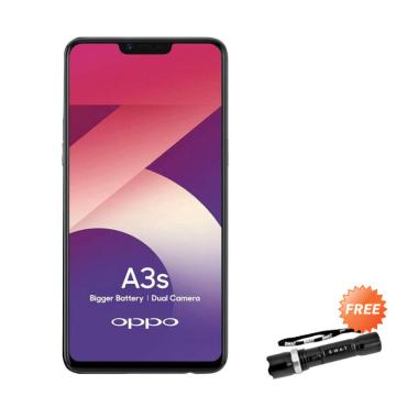 OPPO A3S Smartphone [16GB/ 2GB] + Free SWAT Police Senter