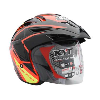 harga KYT Scorpion King K-Line Super Fluo Helm Half face - Red Fluo-BK Blibli.com