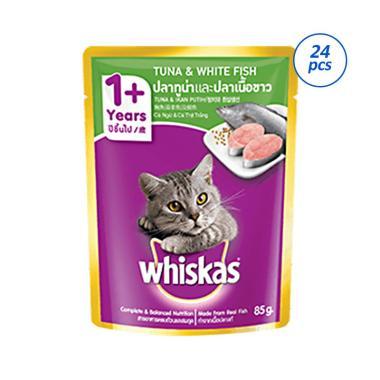 Whiskas Tuna White Fish Makanan Kucing ...