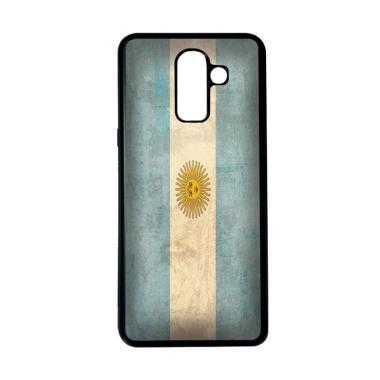 harga HEAVENCASE Motif Bendera Argentina 20 Softcase Casing for Samsung Galaxy J8 - Hitam Blibli.com