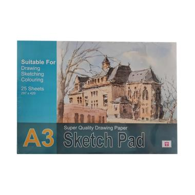 Tiara Shakti Sketch Pad Book 150 Gr ... etsa Lukis Gambar Cat Air