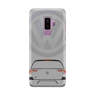 Indocustomcase VW Logo Cover Casing for Samsung Galaxy S9 Plus