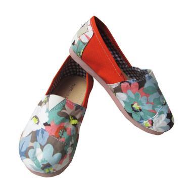 Nugraha Sugih Model Wakai Motif Bunga Lis Orange Sepatu Flat Anak Perempuan 80bc756be9