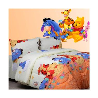 Sierra Pooh and Friends Bedcover dan Set Sprei - Orange