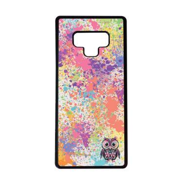 harga HEAVENCASE Motif Burung Owl Cute Paint Softcase Casing for Samsung Galaxy Note9 - Hitam Blibli.com