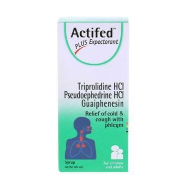 Actifed Plus Expectorant Hijau Obat Batuk [60 mL]
