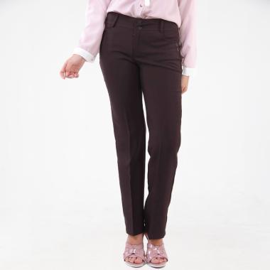 JSK Jeans Kode 100 Celana Kantor Wanita - Coklat Tua